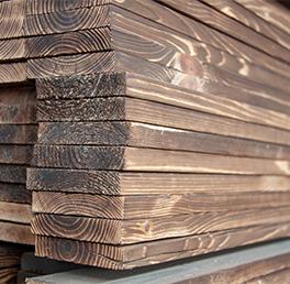 炭化木材加工